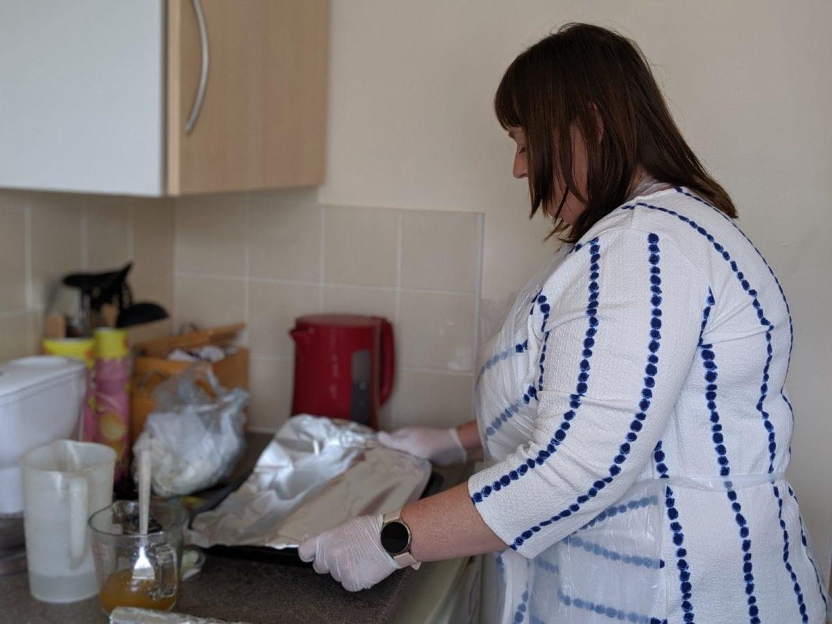Carer Hayley cooking