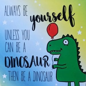 Dinosaur greetings card