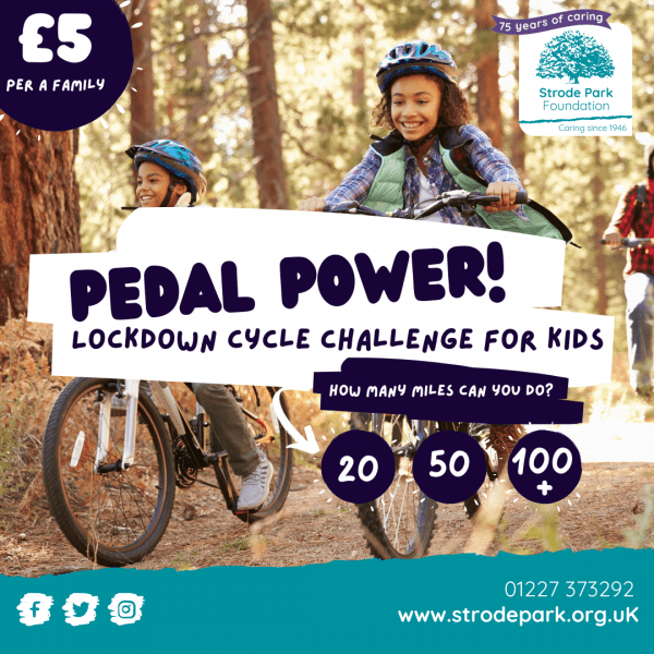 Pedal Power cycle challenge poster