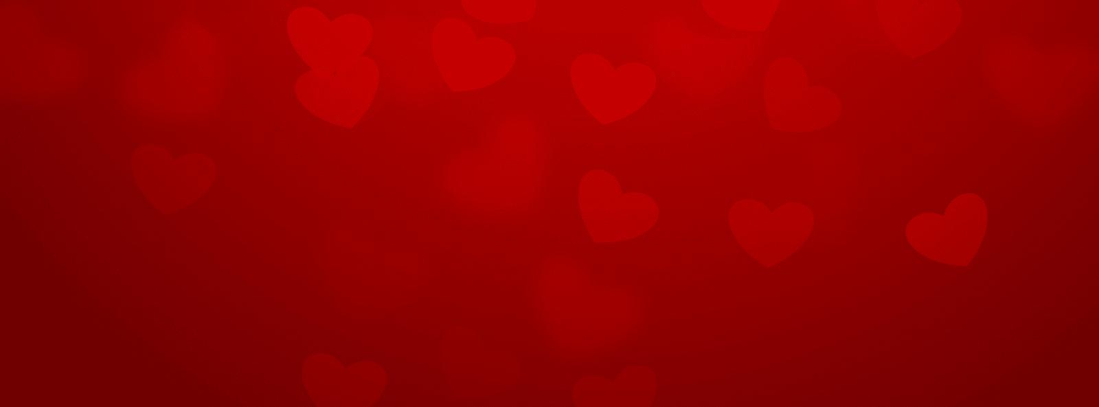 Love hearts banner