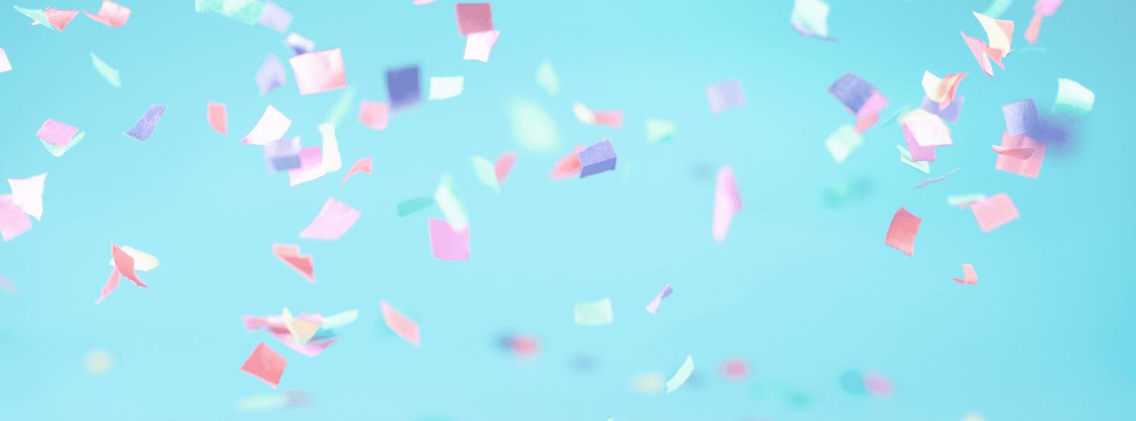Confetti banner
