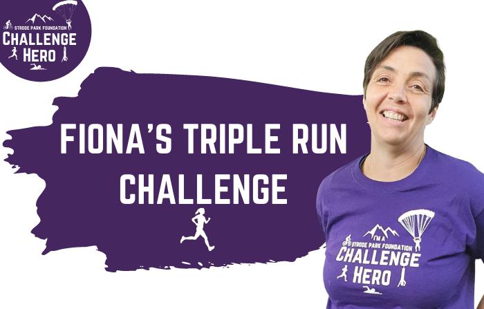 Fiona Anelay in her Strode Challenge Hero T-shirt
